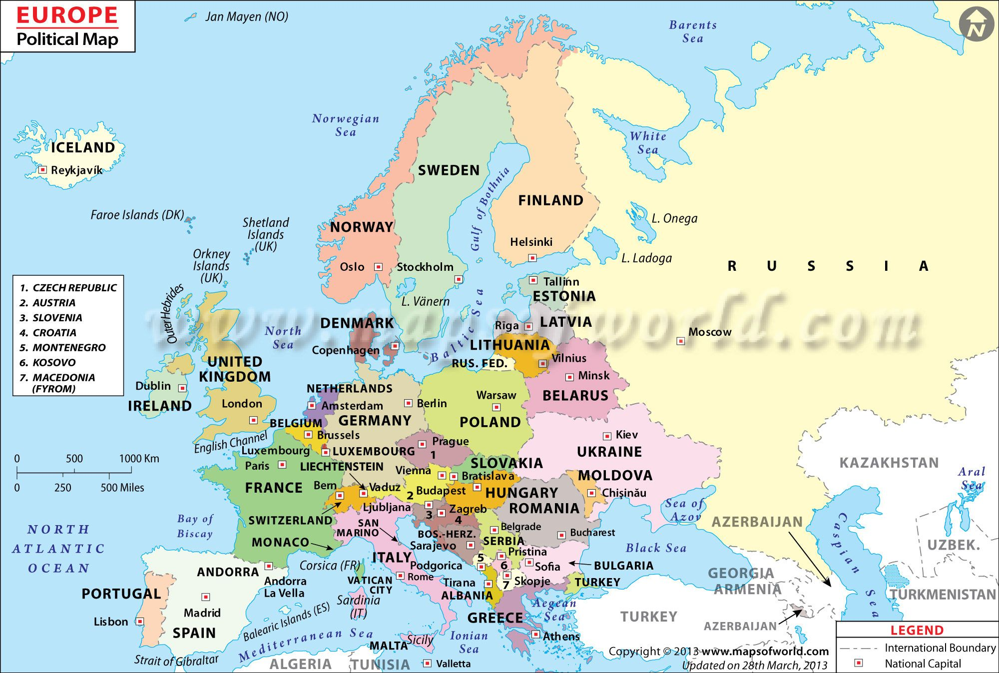 Large Political Map Of Europe Image