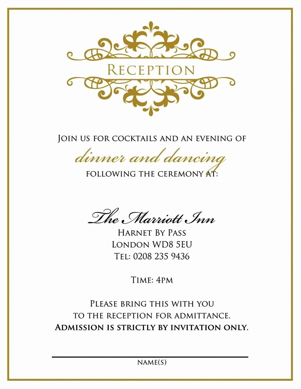 Ceremony Only Invitation Wording Elegant Wedding Invitation Wor In 2020 Wedding Reception Invitation Wording Reception Invitation Wording Wedding Reception Invitations