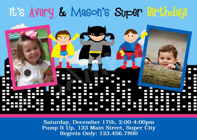 Batman Invitations 20 Cards Birthday Party Invites Kids Childs