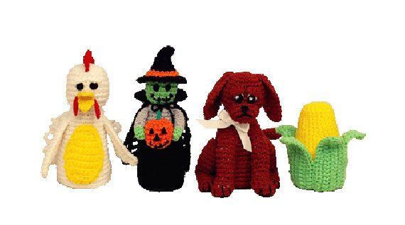 Crochet Pattern Witch, Chicken, Dog Renuzit Air Freshner Cover