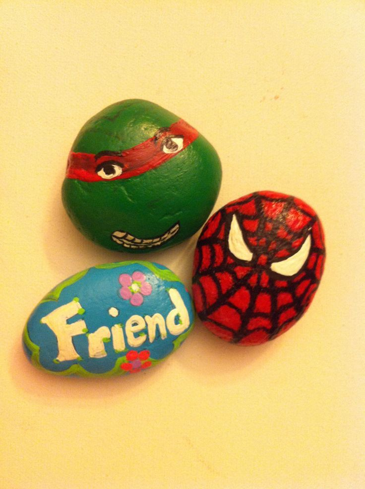 Rock Painting Ideas Painted Rocks Tmnt And