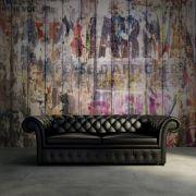 Décoration murale graffitis sur planches de bois – Rebel Walls