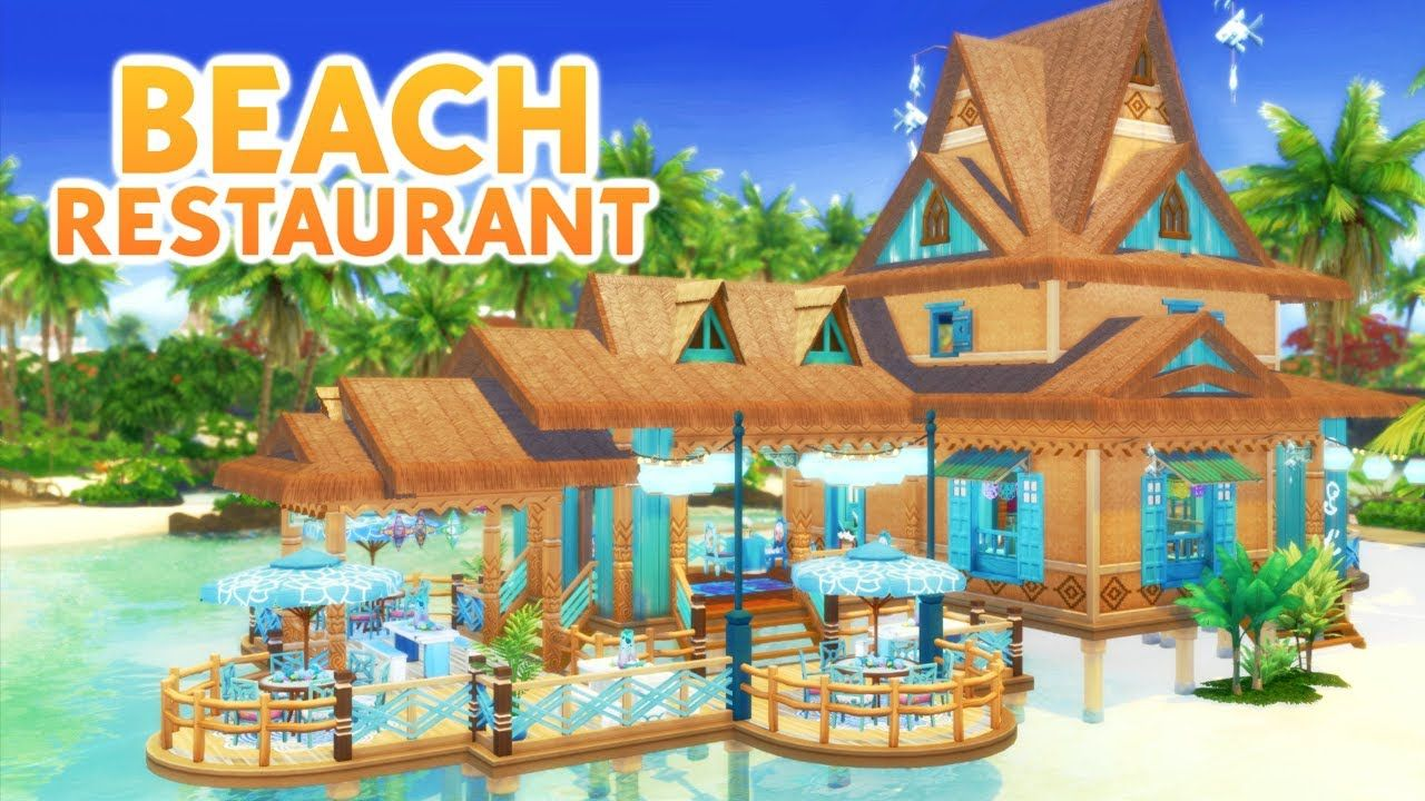 BEACH RESTAURANT Sims 4 Speed Build