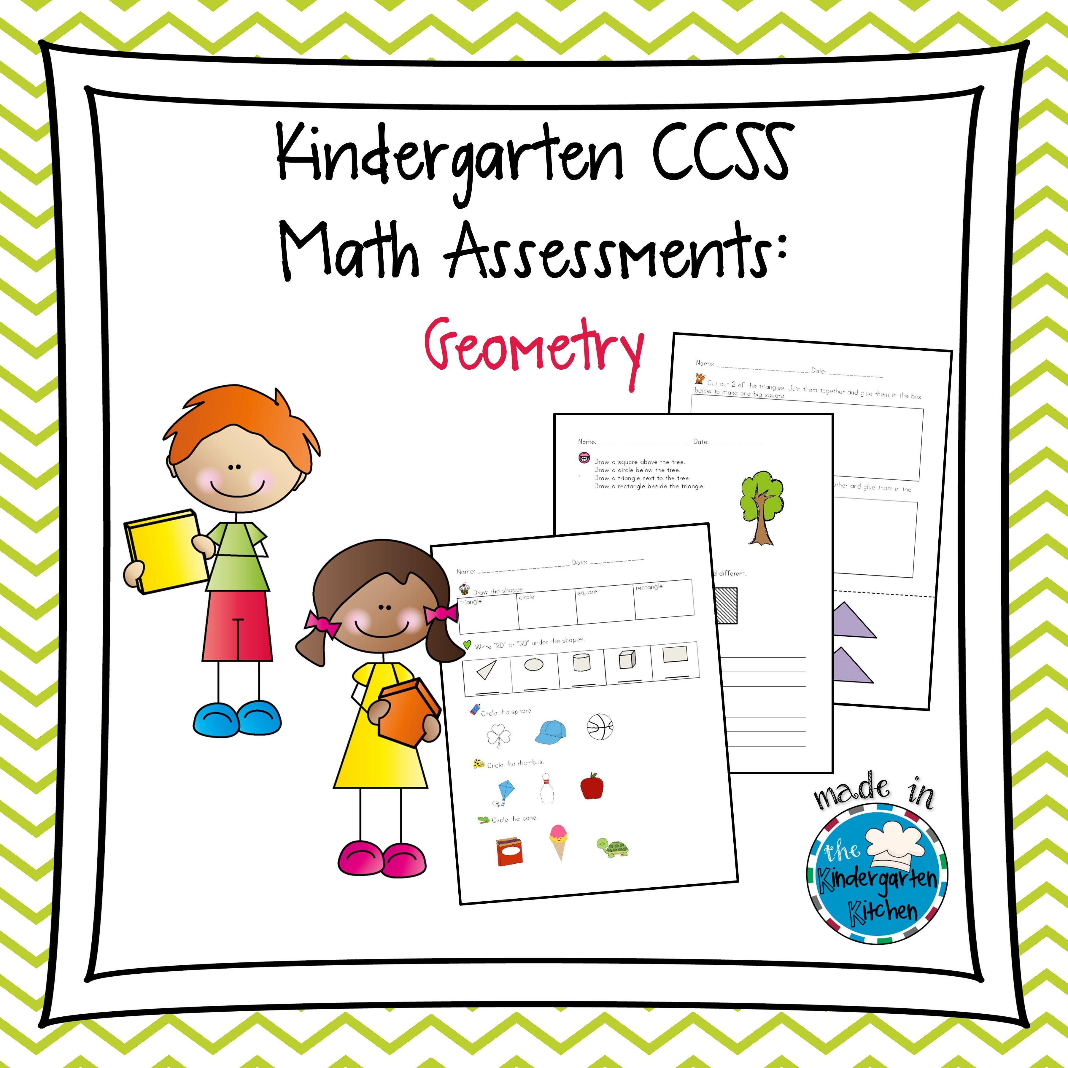 Kindergarten Ccss Math Assessments Geometry