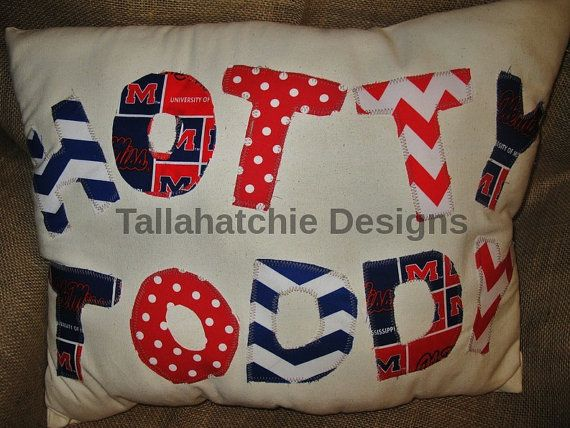 Hotty Toddy 16 X 20 Pillow Cover Ole Miss Throw