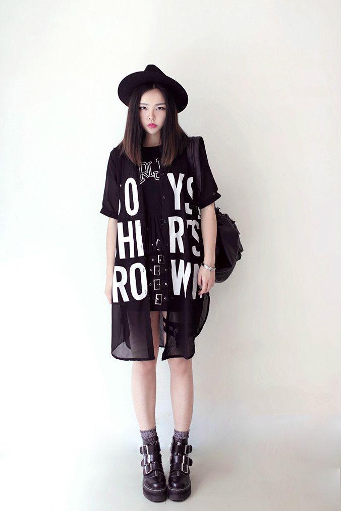 Korean - Asian - Style - Fashion - Outfits - Ulzzang - Dark - Black - Bohemian - sexy