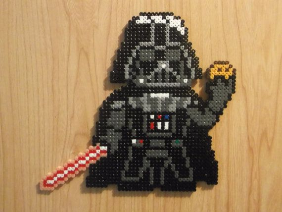 Darth Vader And The Cookie Perler Beads Perler Beads