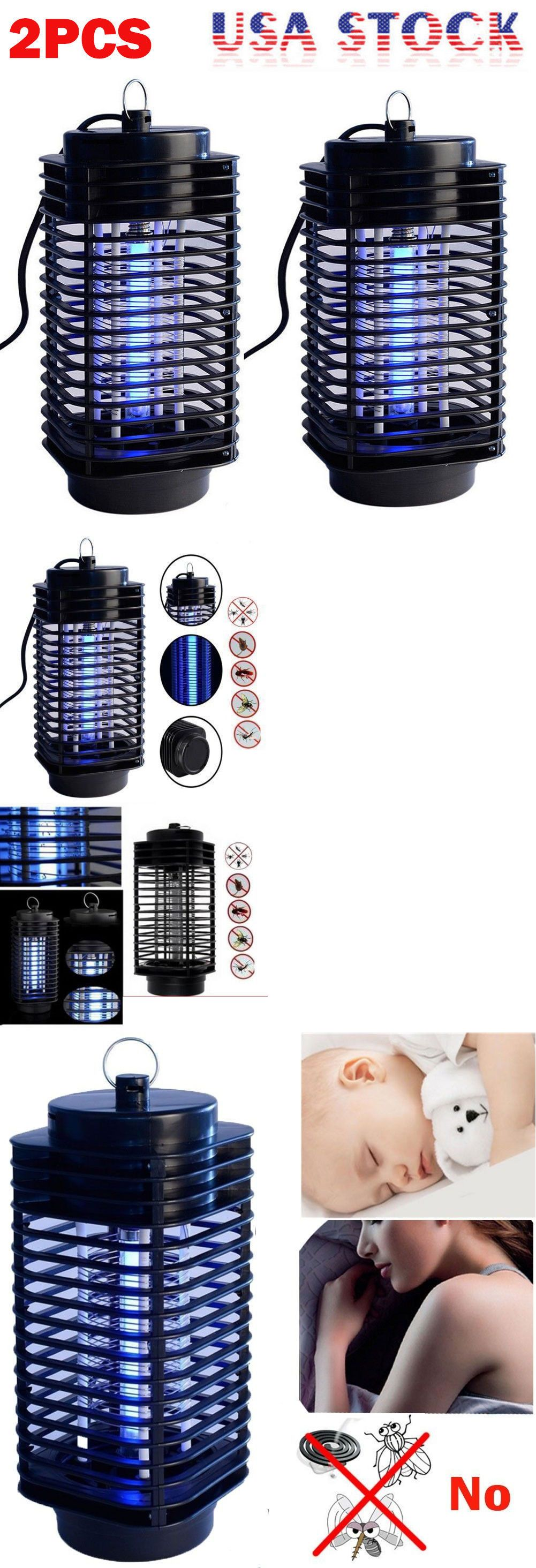 2pcs Electric Mosquito Fly Bug Insect Zapper Killer Trap Lamp 110v Wiring Diagram Further On Zappers 181040 Stinger Pest Buy It Now Only 1795 Ebay