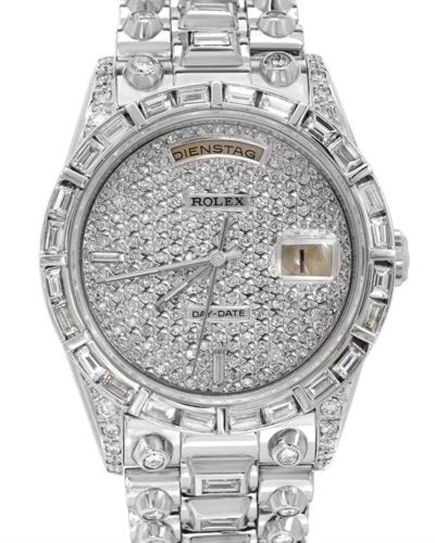 cd897f312fa8 Rolex President 18K White Gold Day Date Diamond Men s Watch. Total item  weight 165.8 gr. - Rolex Preloved - Modnique.com