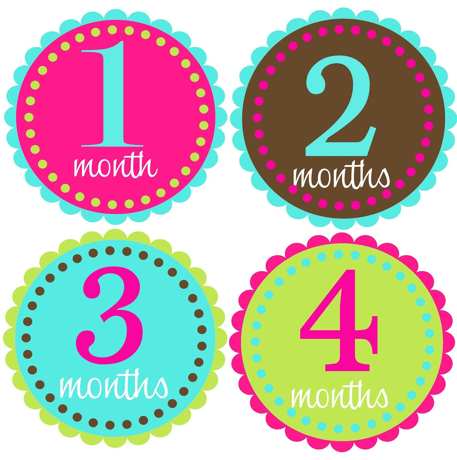 Onesie Stickers Monthly Baby Girl Month Stickers Great