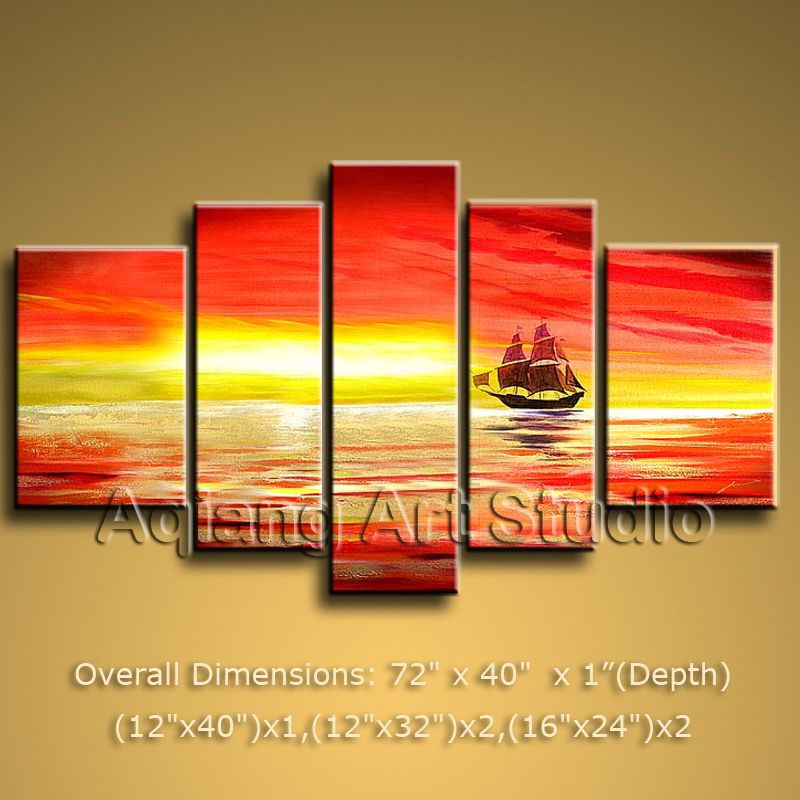 Modern Contemporary Abstract Oil Painting Huge Wall Art on Canvas ...