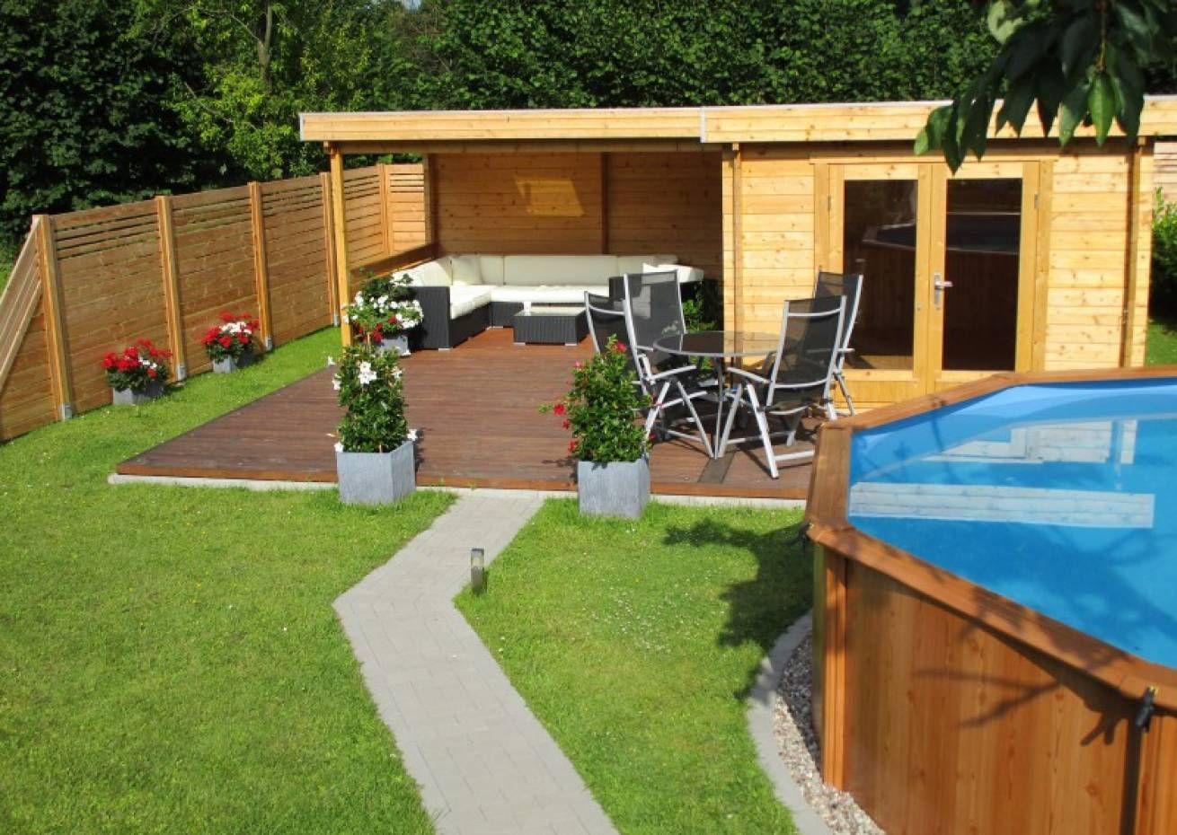 Flachdach Gartenhaus Modell Quinta ISO (mit Bildern
