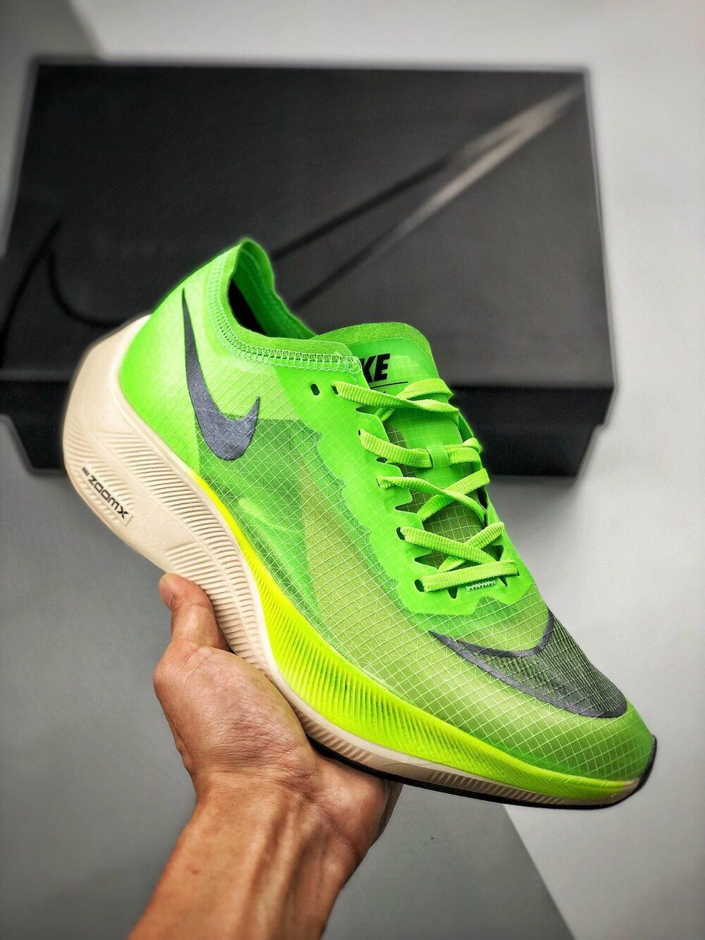 Nike Zoomx Vaporfly Next Electric Green Sale Price 187 50 Retail 250 Free Shipping Use Code Air25 At Check Trending Sneakers Nike Runnning Shoes