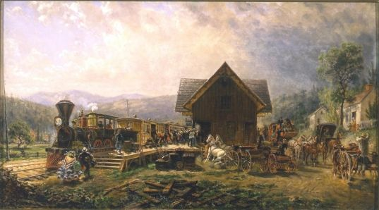 9:45 A.M. Accommodation, Stratford, Connecticut, April 1864 by Edward Lamson Henry   The Morse Museum
