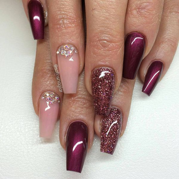 Nail Colors Burgundy: 50 Burgundy Nail Art Designs To Try