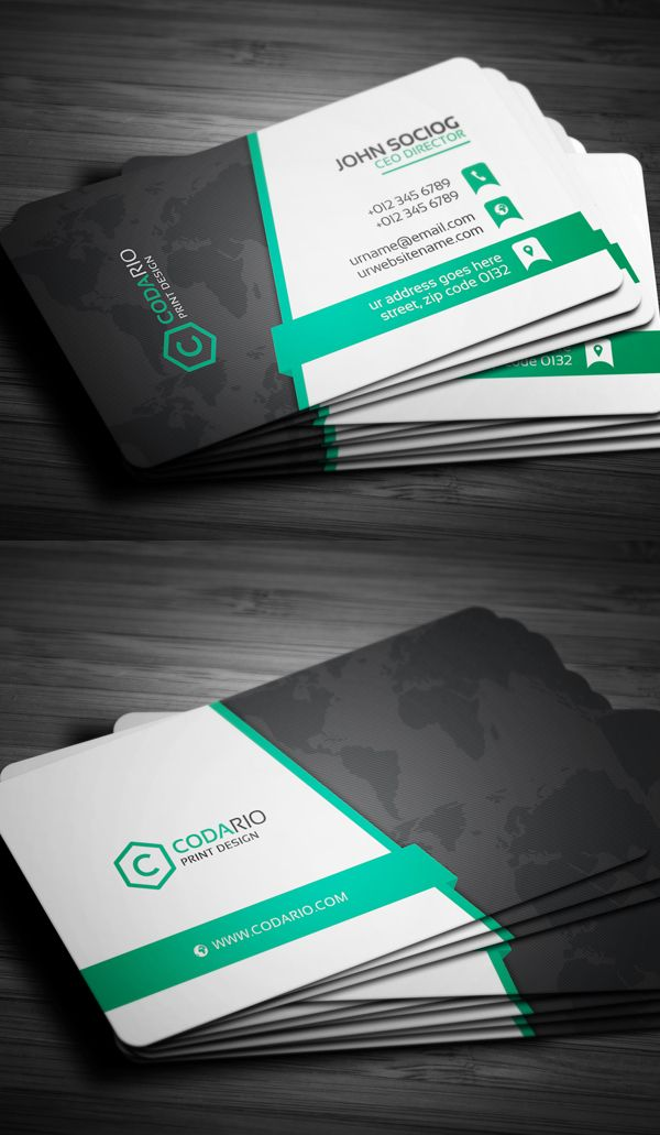 Pin On Business Cards Design