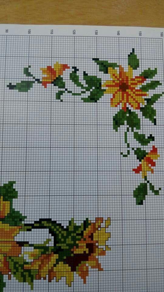 Pin de Veronica Maya en Girasoles | Pinterest | Bordado crewel ...