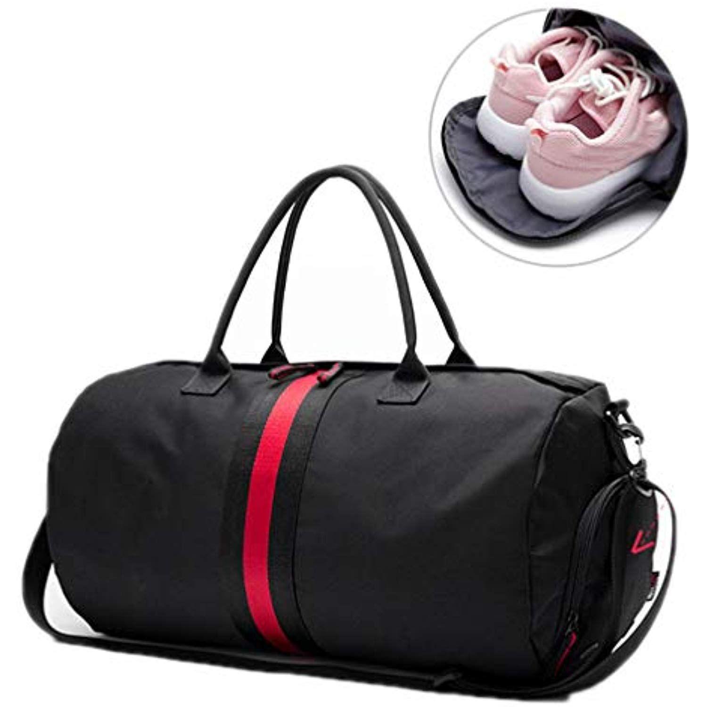 0e82d9e4f3c7 Canvas Women's Travel Yoga Gym Bag for Fitness Shoes Handbags Men ...