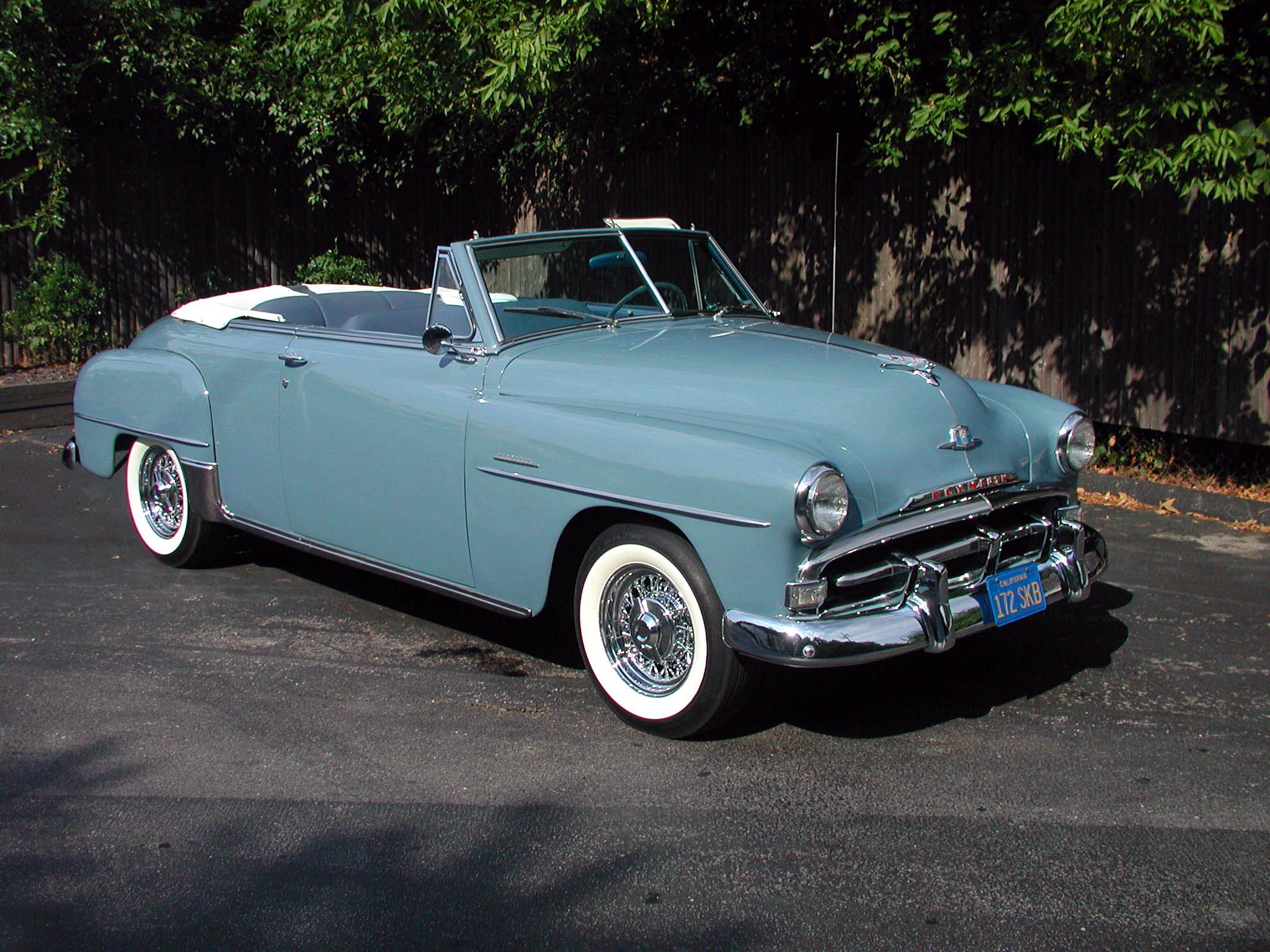 1952 Plymouth Convertible We had one of these but the colour was