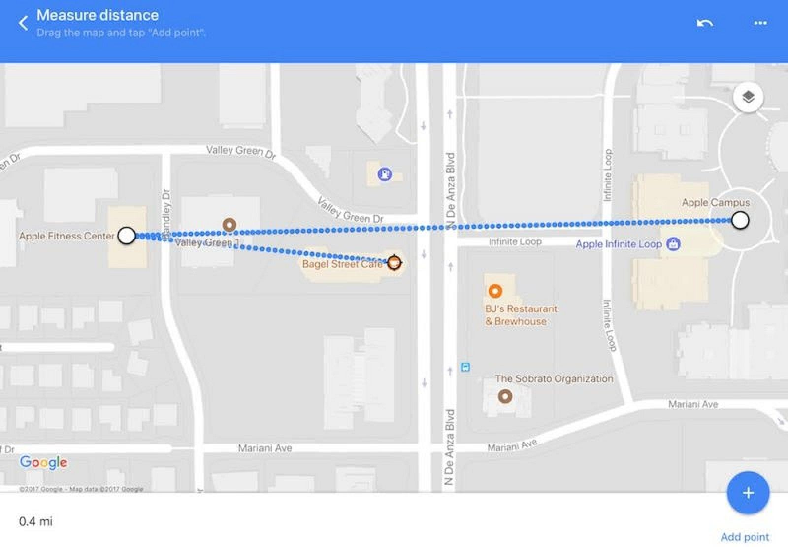 Google Maps App Update Brings 'Measure Distance' Feature