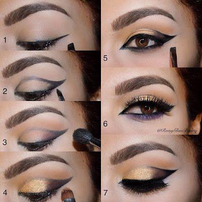 24 Maquillaje de ojos de noche paso a paso