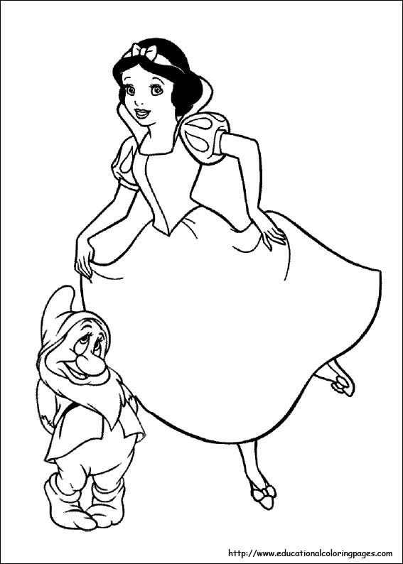 Snow White Coloring Pages Free For Kids With Images Disney