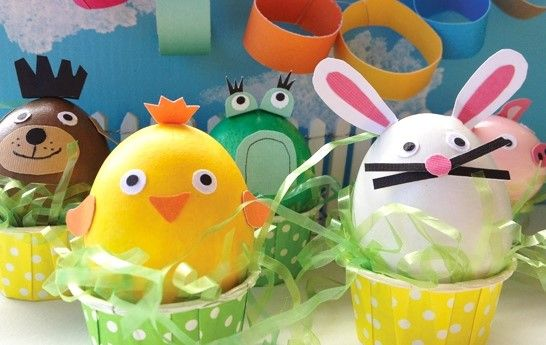 10 Last minute Ideas to decorate Easter Eggs - Kiddy Crafty & pintar huevos de pascua - Buscar con Google   Activities for ...
