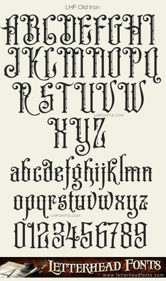 Letterhead Fonts Lhf Old Iron Font Set Old Fashioned Fonts