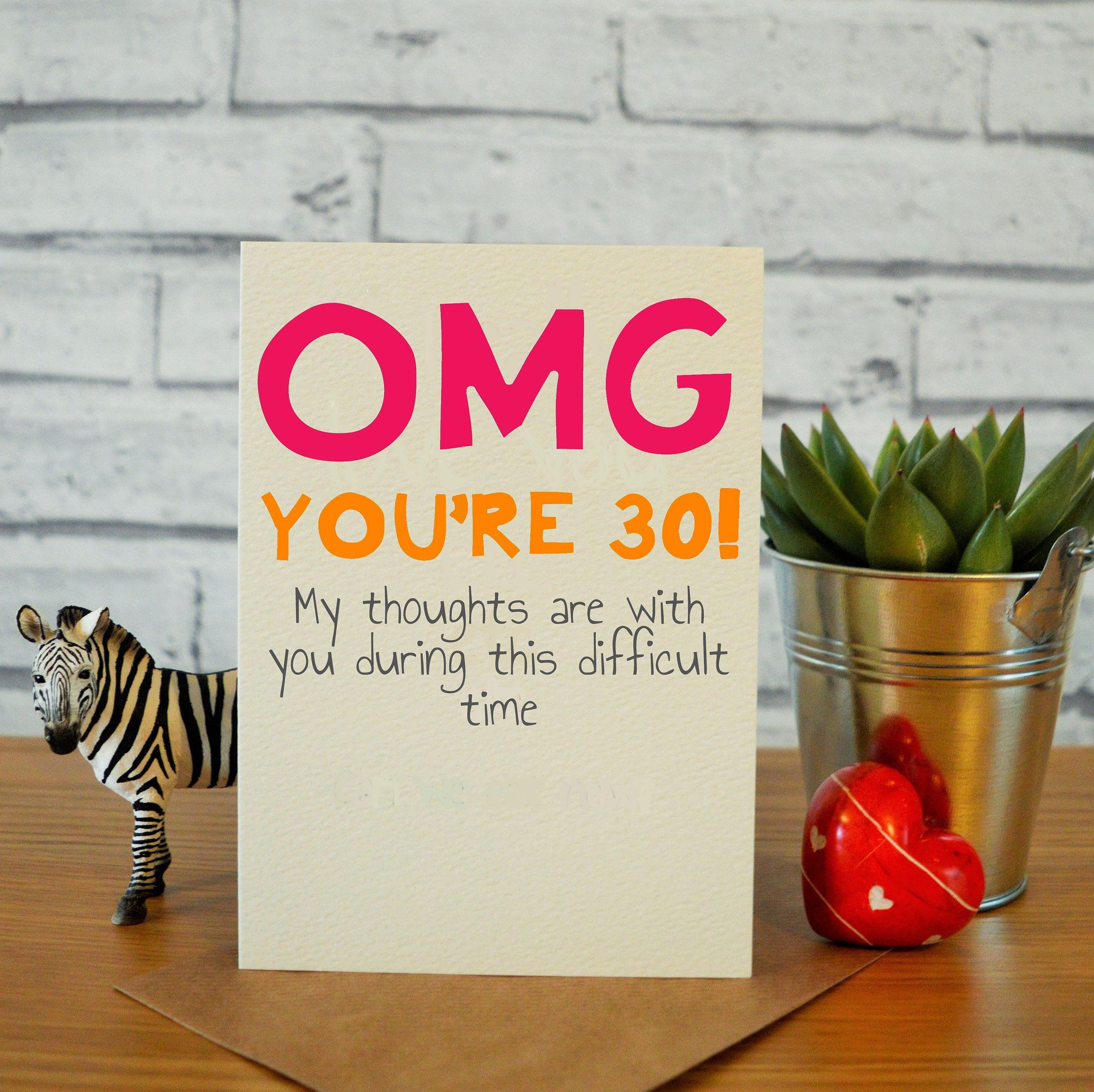 30th Birthday Card For Her Funny 30th Birthday Card 30th Etsy 30th Birthday Cards Birthday Cards For Her 30th Birthday Funny