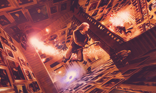 Harry Potter and the Order of the Phoenix: The Weasley Twins Leave Hogwarts Concept Art.