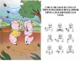 """ESPAÇO EDUCAR: """"Os Três Porquinhos"""" em Libras"""