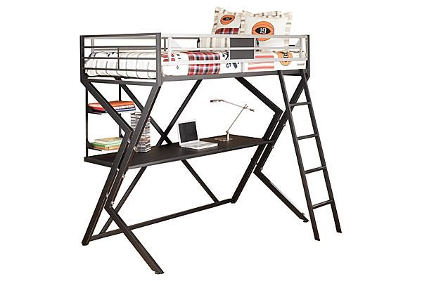 The Dinsmore Youth Loft Bed W Desk From Ashley Furniture