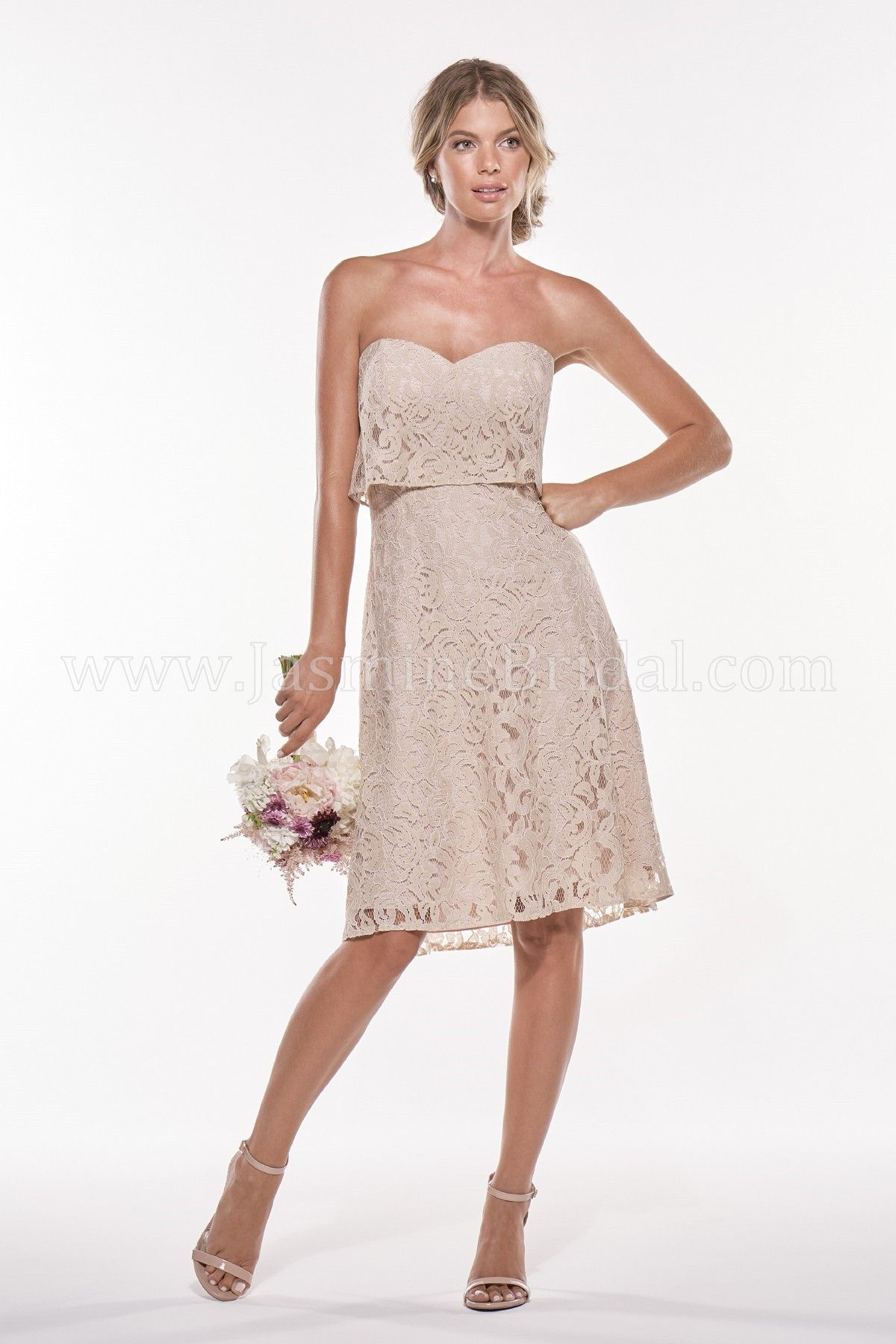 Jasmine Bridal - Jasmine Bridesmaids Style P196011K in Lace, color ...