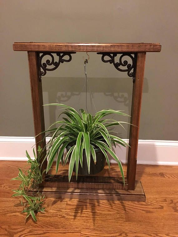 Handmade wooden stand for hanging plants. Stained for ... on Stand For Hanging Plants  id=22609
