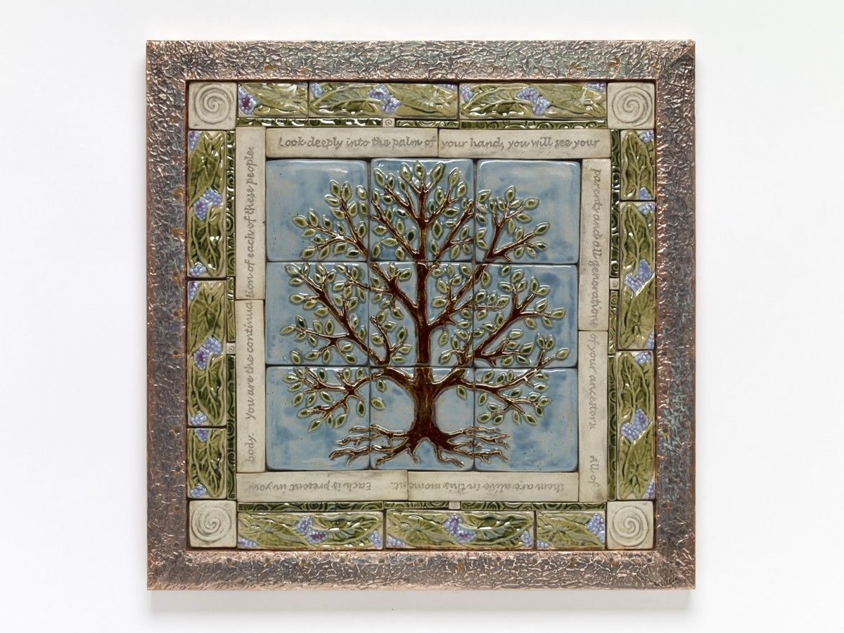 Handmade Ceramic Tile Tree Of Life Tile Mural By