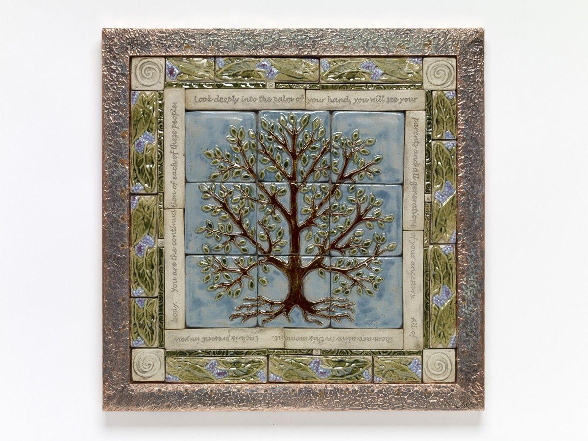 Handmade Ceramic Tile Tree Of Life Tile Mural Handmade Ceramics