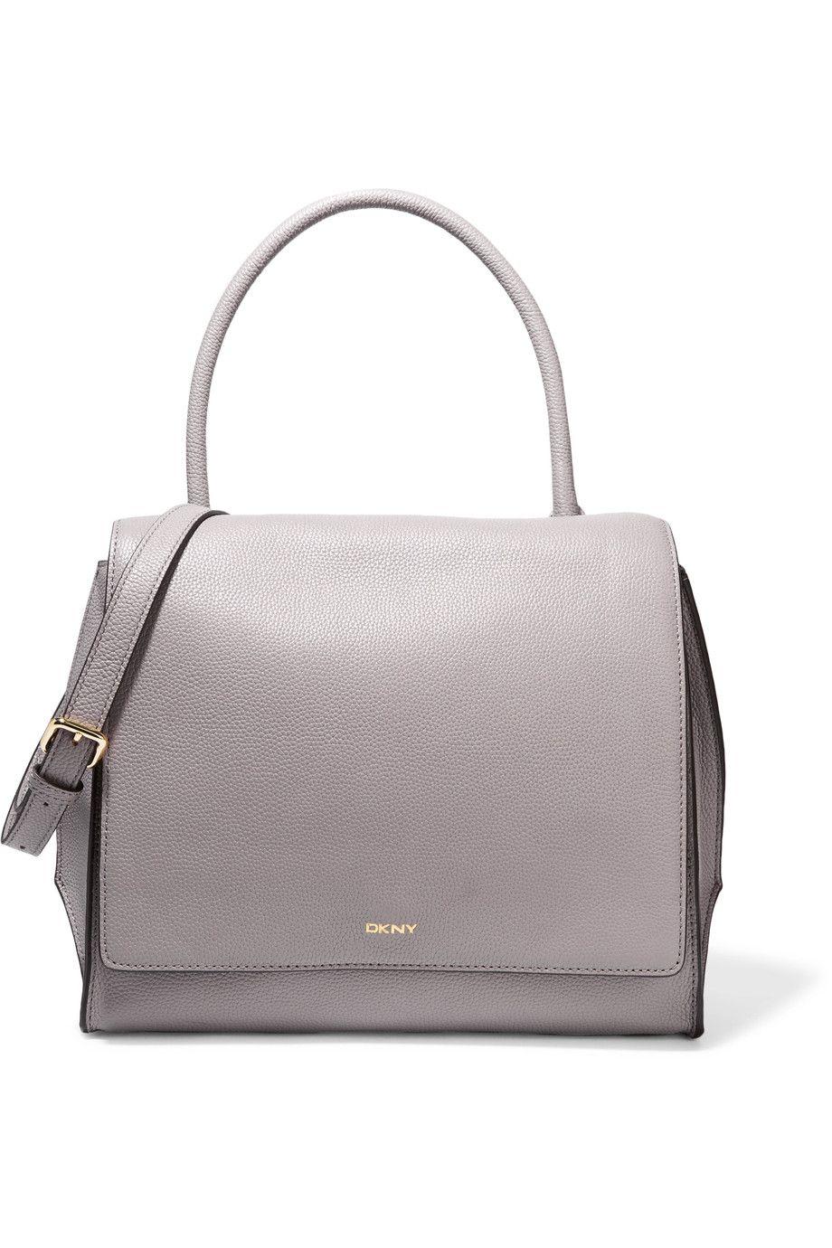 DKNY Textured-leather shoulder bag. #dkny #bags #shoulder bags ...