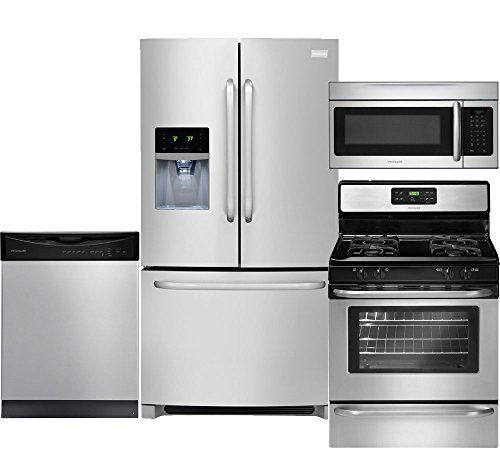Frigidaire 4 Piece Stainless Steel Kitchen Package With F... Https:/