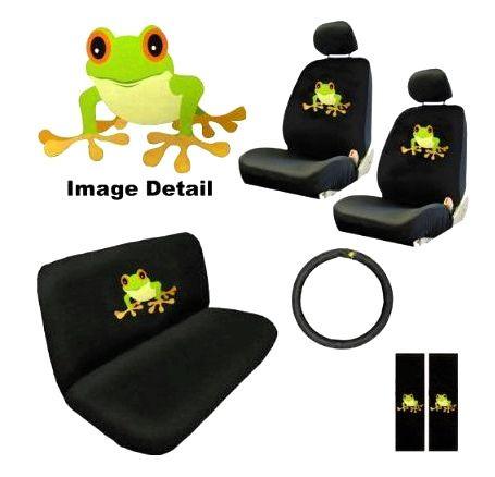 Frog Seat Cover Set Frog Gifts Frog Figurines Frog Art