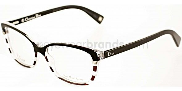 00a9114c0e Dior CD3233 DTA Black Crystal Stripe Dior Glasses