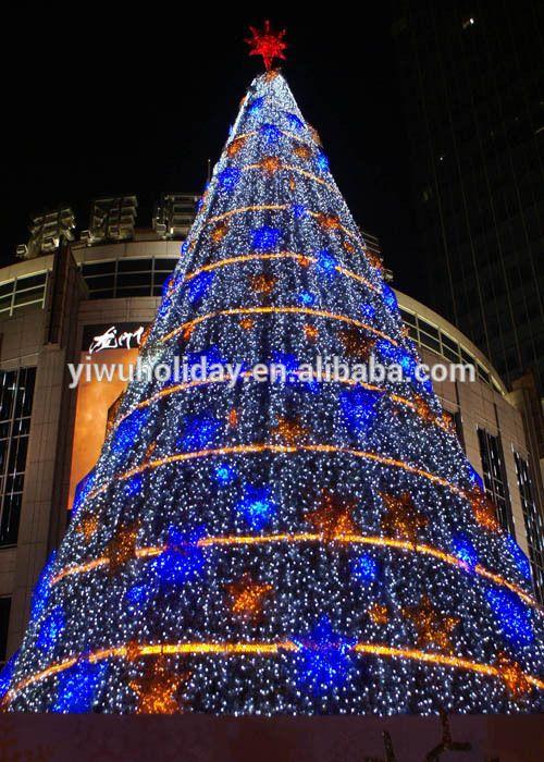 Centro comercial hotel interior del copo de nieve dise o - Arbol navidad led ...