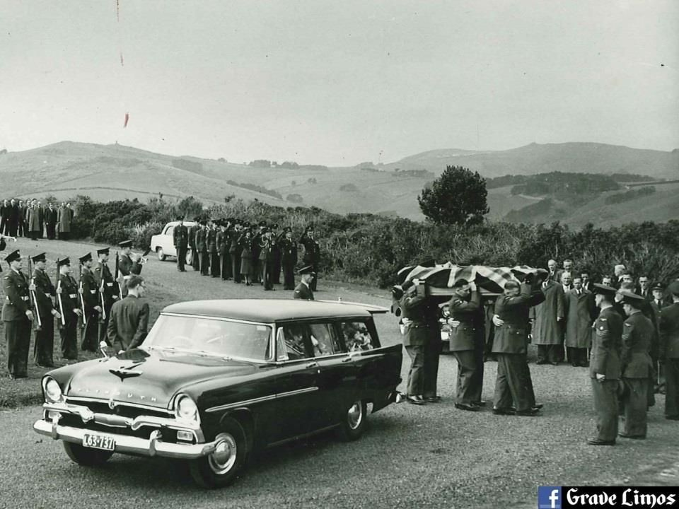 1956 plymouth suburban hearse military funeral by hope