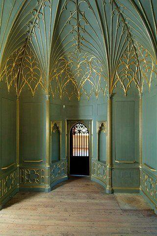 Strawberry hill house twickenham london 1749 1776 for Casa revival gotica