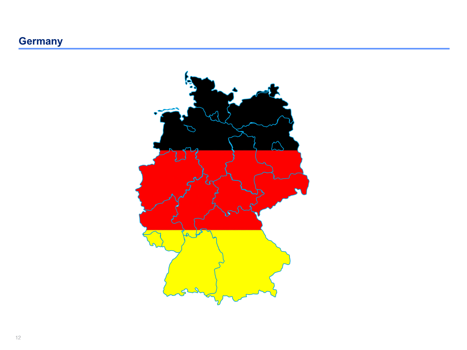 Germany Map Templates Products Templates And Flags - Germany map template