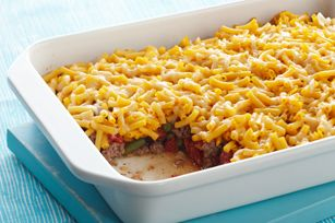Cheesy Mac Topped Casserole Recipe Ground Beef Topped With Mac N Cheese Recipes In 2019 Pinterest