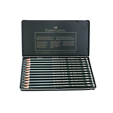 Faber Castell 9000 Graphite Sketch Pencils 8b 2h Art Set Of