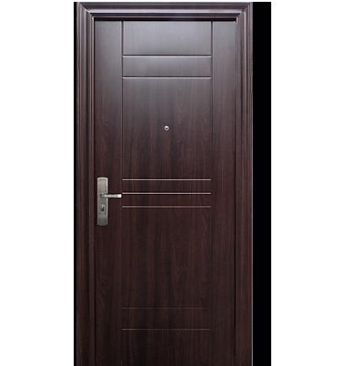 Xe puertas de seguridad es de acero pero parece madera for Modelos de puertas