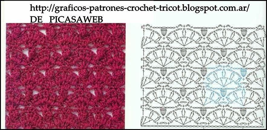 PATRONES - CROCHET - GANCHILLO - GRAFICOS: PUNTOS TEJIDOS A ...