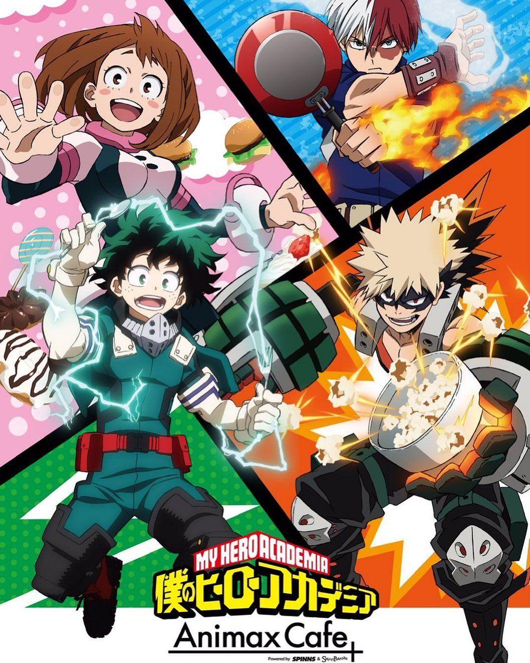 Poster A3 Boku No Hero Academia Midoriya Bakugo Todoroki Uraraka Tenya All Might