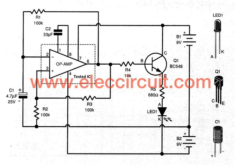 The Op-amp IC tester circuit | Eletrônica | Eletrônica
